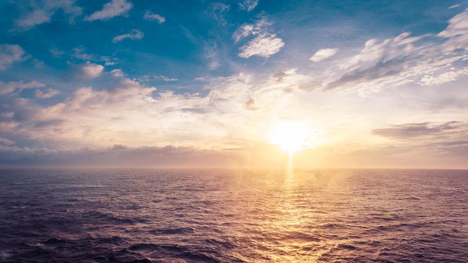 Shine Beauty In Nature Cloud - Sky Day Horizon Over Water Idyllic Nature No People Outdoors Scenics Sea Sky Sun Sunbeam Sunlight Sunset Tranquil Scene Tranquility Water