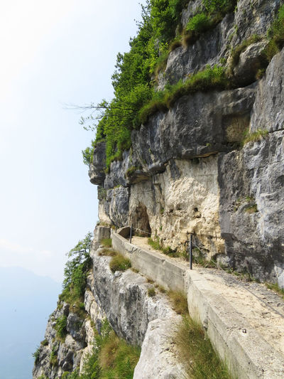 Footpath World War I Architecture Cliff Corniche History Military Roads Mountain Nature No People Outdoors Scenics - Nature The Way Forward