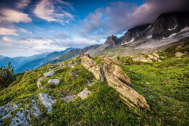 French Alps Mountain Sky Nature Beauty In Nature Cloud - Sky Scenics Mountain Range Landscape Outdoors Tranquility No People Adventure Day EyeEmNewHere Let's Go. Together.