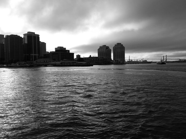 Beautiful day for a cruise in my favourite city. Shades Of Grey Going Sailing Taking Photos Halifax My City Harbour Cruise Waterfront City Skyline