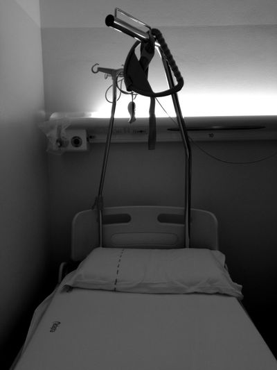 #blackandwhite #hospital #happinessisnothere #nohappiness