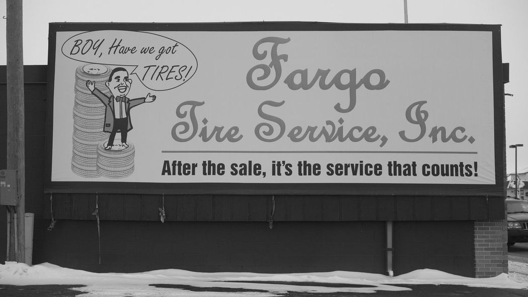 December 19, 2016 / Downtown Fargo Black And White Close-up Day Downtown Fargo Fargo Monochrome No People North Dakota Text