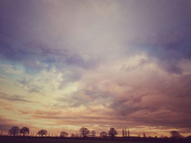 Taken at Gt Bardfield Dramatic Sky Cloud - Sky Beauty Scenics Beauty In Nature Outdoors Landscape Rural Scene Tranquility Nature Sky No People