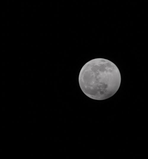 Scenic view of full moon against sky at night