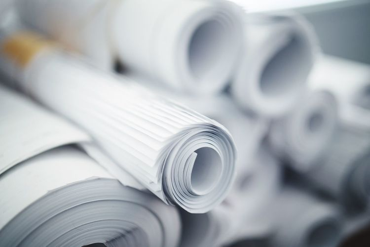 Close-up of rolled up paper