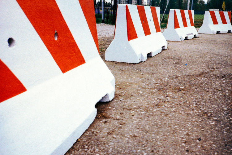 Close-up Culture Day Empty Geometry No People Outdoors Photography Photooftheday Pole Red Red Road Road Marking White White Color