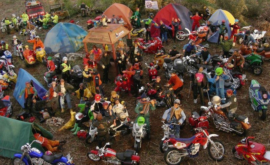 Concentración Dioramas Madelman Maqueta Motorbike Motorbikestyle Toys Art Traditional Festival