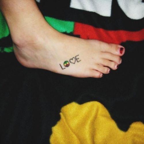 Tattoo One Love Inked Irie
