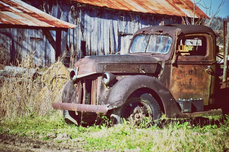 old truck in