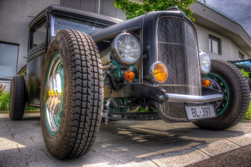DDESIGN HDR PICTURE Hdrphotography Hdr Edit Hdr_Collection EyeEm Best Shots HDR First Eyeem Photo Transportation Mode Of Transportation Land Vehicle Metal Wheel Tire No People Outdoors Retro Styled Railing Day Stationary Road Sunlight Motor Vehicle Car Headlight Nature Technology