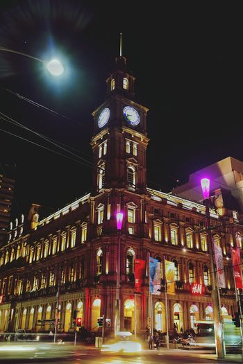 Gpo Nightphotography City Lights Cityscapes Light Trails Cbd Life Melbourne City