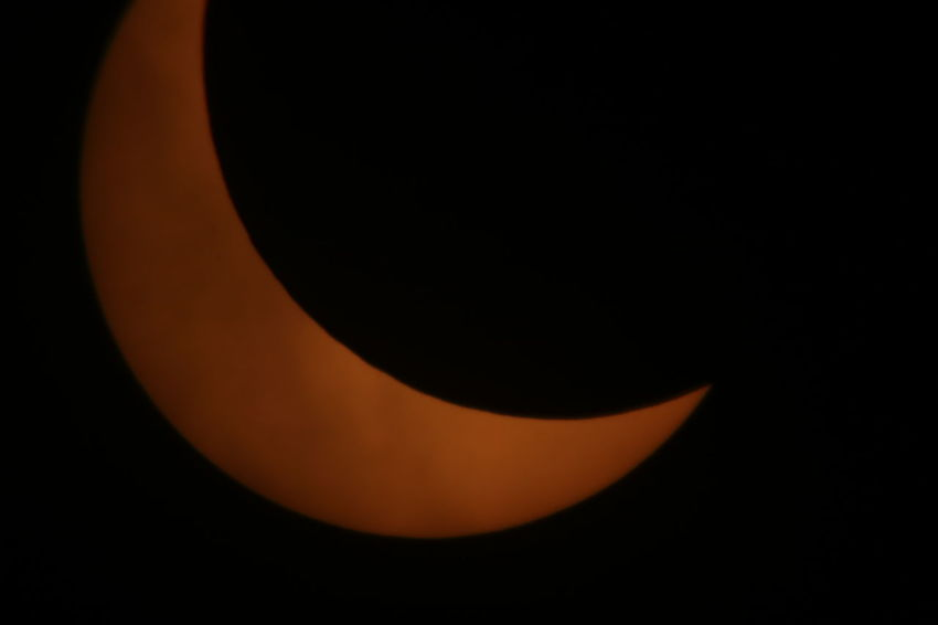 Moment Moon Orange Orange Sun Part Of Solar Solar Eclipse 2017 Solar System Sunlight USA America Astronomy Astronomy Photography Astronomy Telescope August 2016 Black And Orange Eclipse Events Partial Photography Rare Solar Eclipse Sun Sunset Telescope