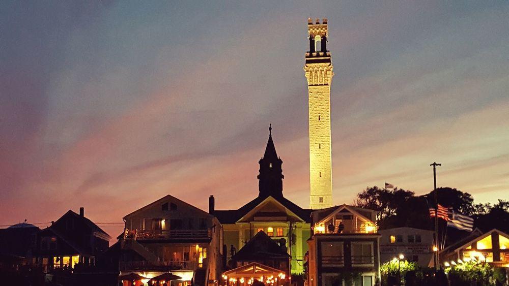 Provincetown  Beach Pilgrims Monument Sunset Nightphotography Nightlife Color Red Skyporn Sky Pilgrim Monument Dusk Tower Bell Tower EyeEm Best Shots EyeEm Best Shots - Architecture Architecture Colour Of Life