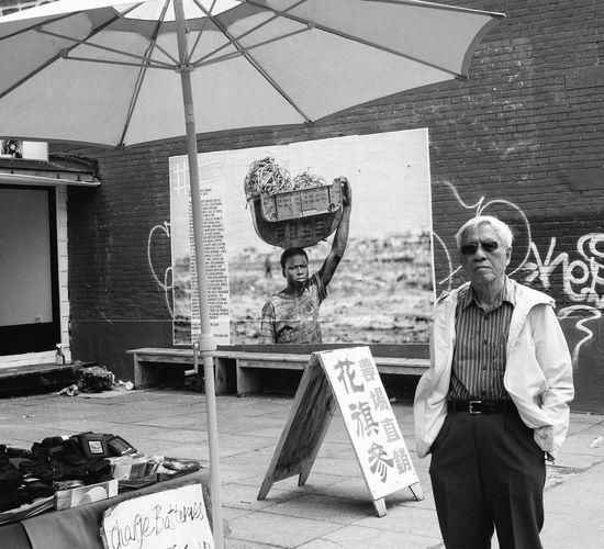 Africa Black And White Chinatown Stare Sunglasses