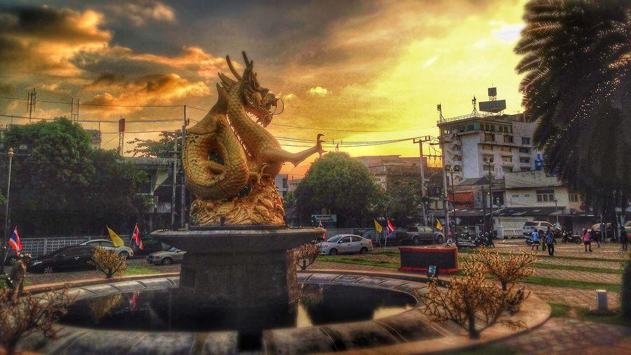 [HDR] ลานมังกร (Hei Leng Ong) Phuket Old Town Phuket Vegetarian lLandmark Phuket t Dragonpark