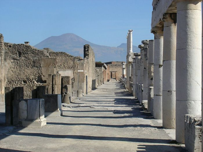 Pompeii  Italy   a day at work in the shadow of Vesuvius    Light And Shadow   Ancient Streets + Columns   Archaeology   Volcano   This Week On Eyeem   Seeing The Sights