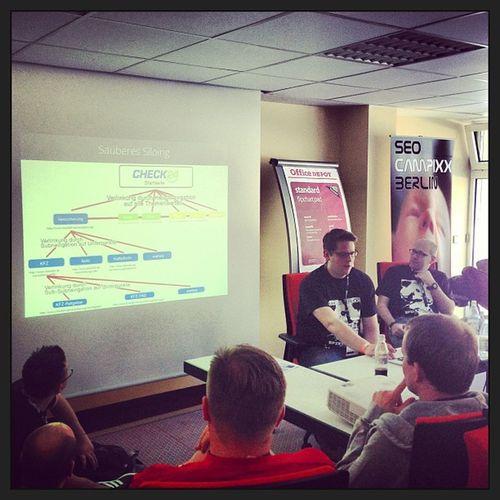 Auf der #SEO #Campixx im Vortrag von Thomas & Kai zum Thema Interne Verlinkung! Top! Campixx Seo