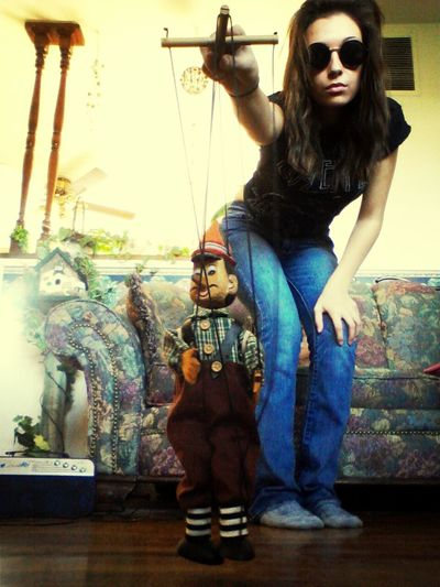 I am the Puppet Master. Marionettes Puppets