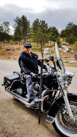 My Black Beauty Motorcycle Transportation Crash Helmet Biker One Person One Man Only Mode Of Transport