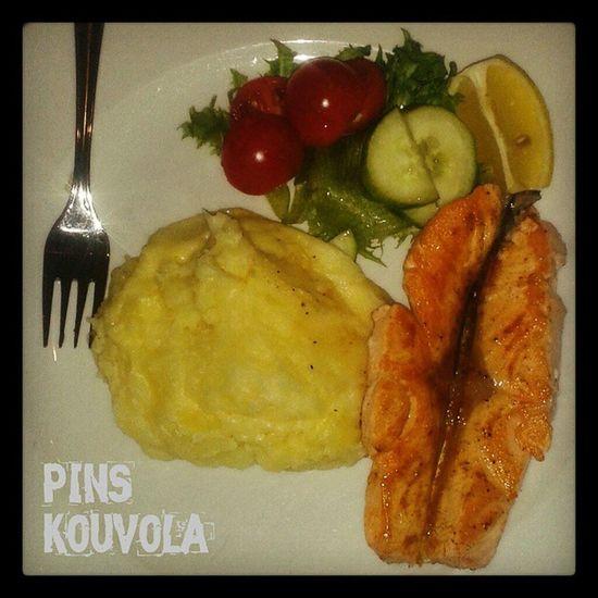 блюдо Еда рыба пюре картошка fish dish salmon potatoes food instafood Finland pins