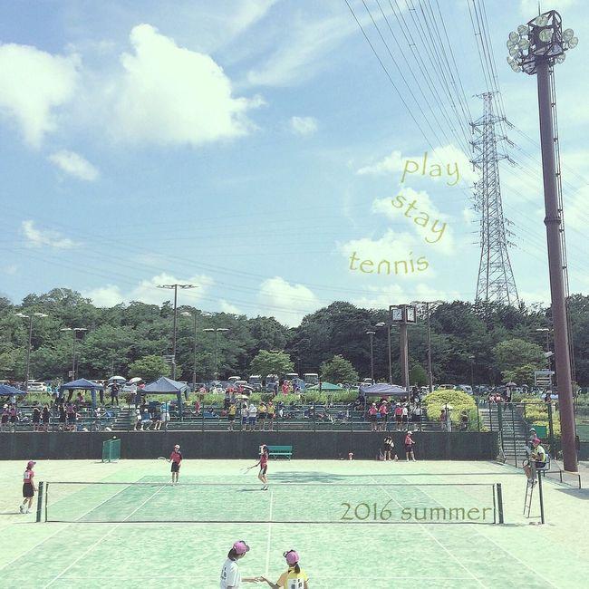 中体連 2016 夏 Playstay テニス Sports Sports Photography Tennis Enjoying The Sun EyeEm Best Shots EyeEm Gallery IPhoneography Iphone5s Clouds And Sky Sky And Clouds Sky_collection Sky_collection Lifestyles Summer Summer2016 空 雲 応援 7月16日 テニスコート
