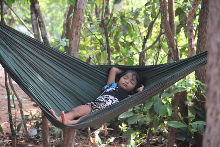 Ankor Thom Ankor Thom Cambodia Travel Childhood Hammock Outdoors Real People Relaxation