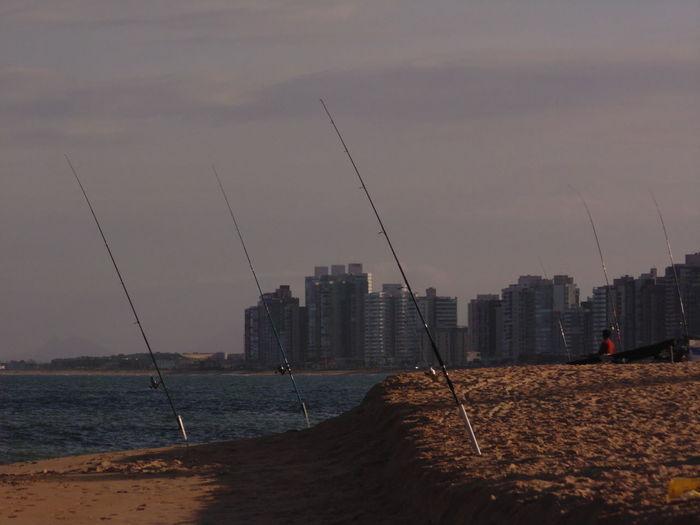 Architecture Beach City Cityscape Fishing Sea Sunset Water