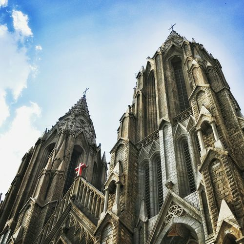 Church Mysoor Photography Place Of Worship Built Structure Low Angle View Spirituality India