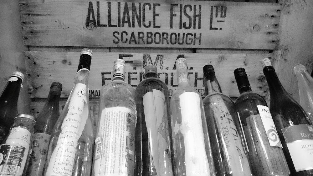 Message In A Bottle Blackandwhite The Things You Find