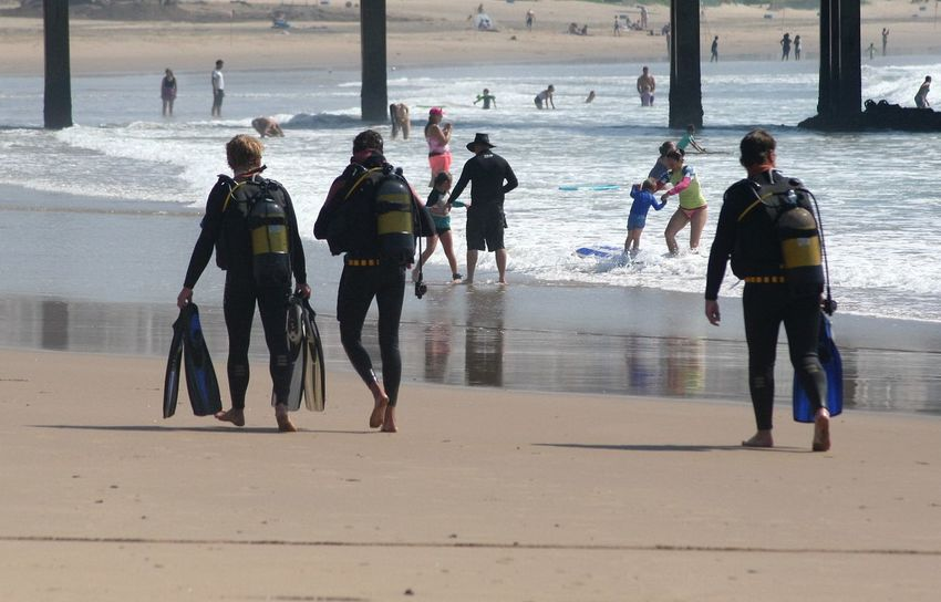 Beach Blue Wave Day Durban Beachfront Enjoyment Leisure Activity Lifestyles Outdoors Scuba Divers... Scubalife Sea Shore Tourist Vacations Water Alternative Fitness Connected By Travel Be. Ready.