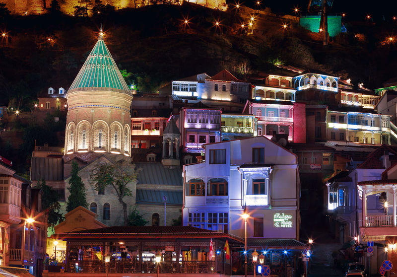 Night in Tbilisi Architecture Architecture_collection City Night Lights Nightphotography Travel Architecture Building Exterior Built Structure City Illuminated Long Exposure Night No People Old Old Buildings Outdoors Tourism Travel Destinations