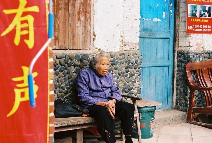 35mm 35mm Film Analog Analogue Photography China Colors Lifestyles Old Lady Old Woman Outdoors The Street Photographer - 2016 EyeEm Awards