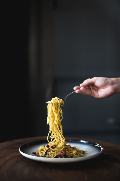 Aglio Olio Dried Chili Food And Drink Garlic Spaghetti Aglio Aglio Olio Bacon Cafe Food Food And Drink Foodporn Freshness Hand Holding Human Body Part Human Hand Italian Food Pasta Pasta Time Pastaporn Plate Pork Bacon Ready-to-eat Spaghetti Table Fresh On Market 2018 Food Stories