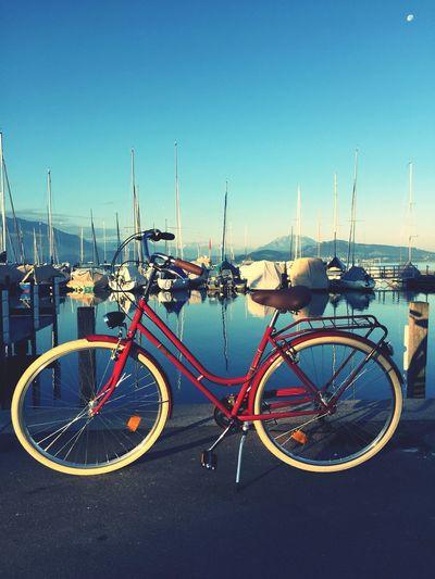 Enjoying The Sun Relaxing Taking Photos Riding Bike Bicycle Zug