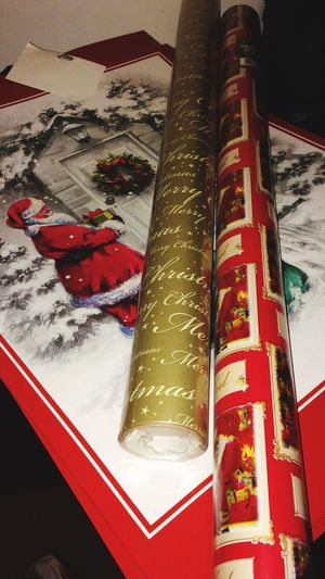 Photography Christmas Wrapping Paper Table No People Santa Sack Paper Indoors  Shadow And Light Excitement