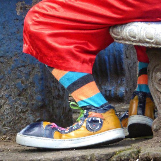 Clown Shoes Clown Close-up Big Foot Big Feet Oversized Funny Uniqueness