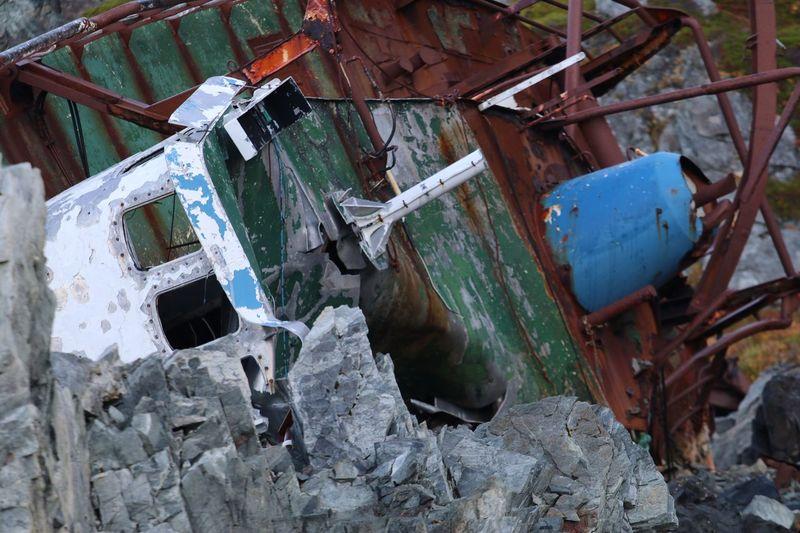 Abandoned rusty metal