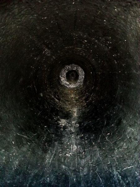 Inside of a cannon at Edinburgh Castle