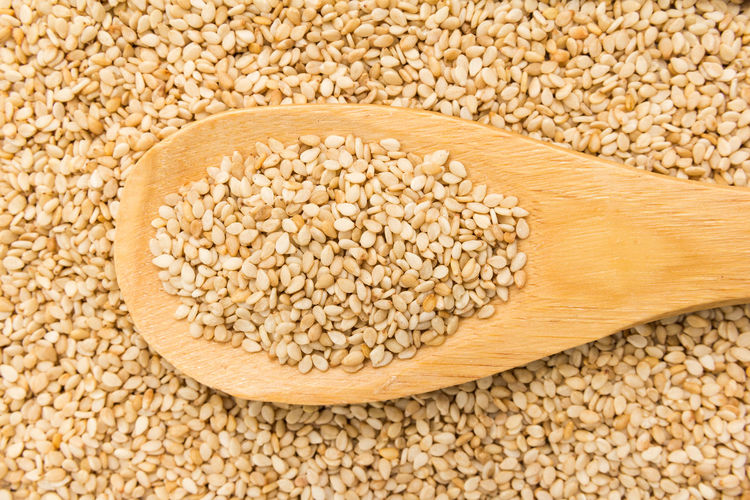 Directly above shot of sesame seeds