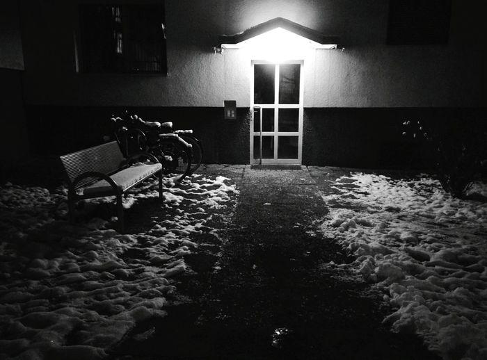 Day 203 - Entrance Berlin Blackandwhite Snow 365project 365florianmski Day203