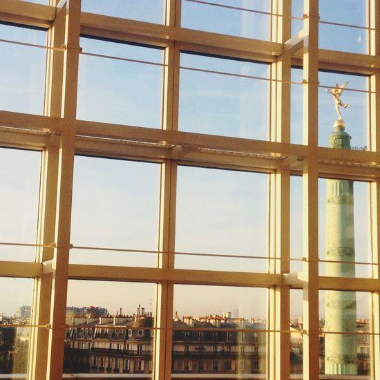 Paris Paris ❤ Paris, France  Window Architecture Sky Built Structure Building Exterior Low Angle View City Perspectives Sky And Clouds Lines Learn & Shoot: Leading Lines y Ópera De Paris Ballett Bastille
