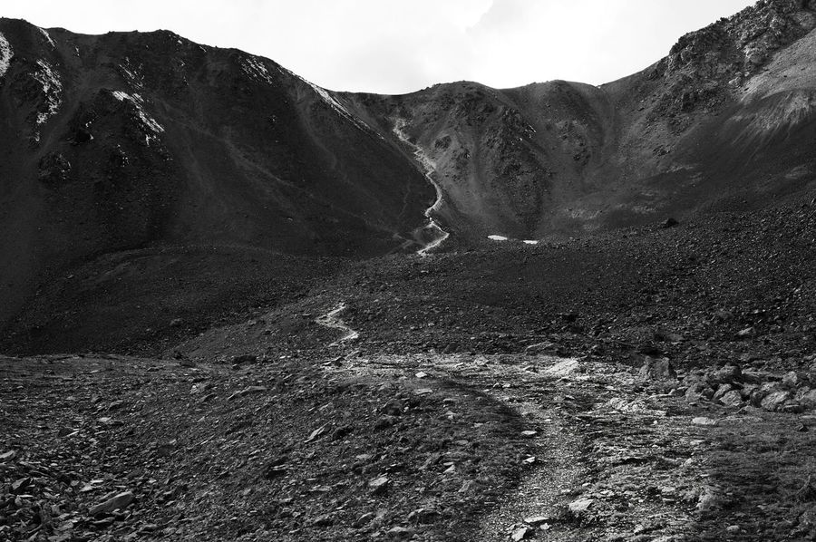 Mountain Tranquility Geology Outdoors The Path Up The Way Up Beauty In Nature Physical Geography Remote Power In Nature Nature Kyrgyzstan Alytnarashan MonochromePhotography Monochrome Photography My Year My View Finding New Frontiers EyeEmNewHere Miles Away