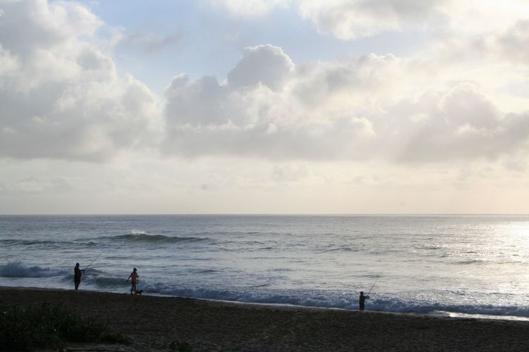 Lost In The Landscape Beach Beauty In Nature Cloud - Sky Day Early Morning Fishermen Fishing KwaZulu-Natal Coast Nature Outdoors Scenics Sea Sky Tranquility Water Be. Ready.