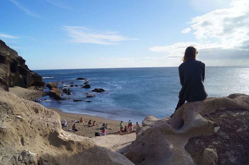 Tenerife Beach Panoramic Photography Paradise Pose