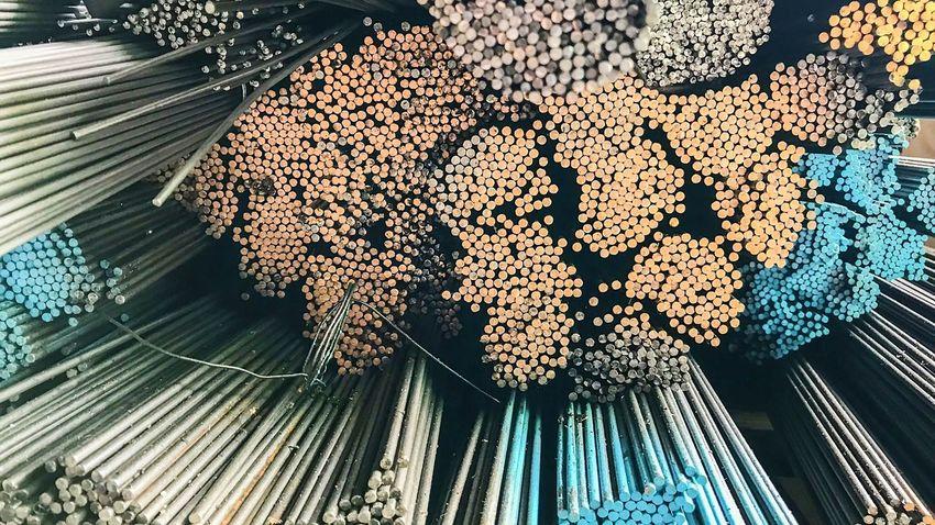 steel bars for industry reinforcement steel bars used in construction. Construction Industry Production Inprocess Steel Bars