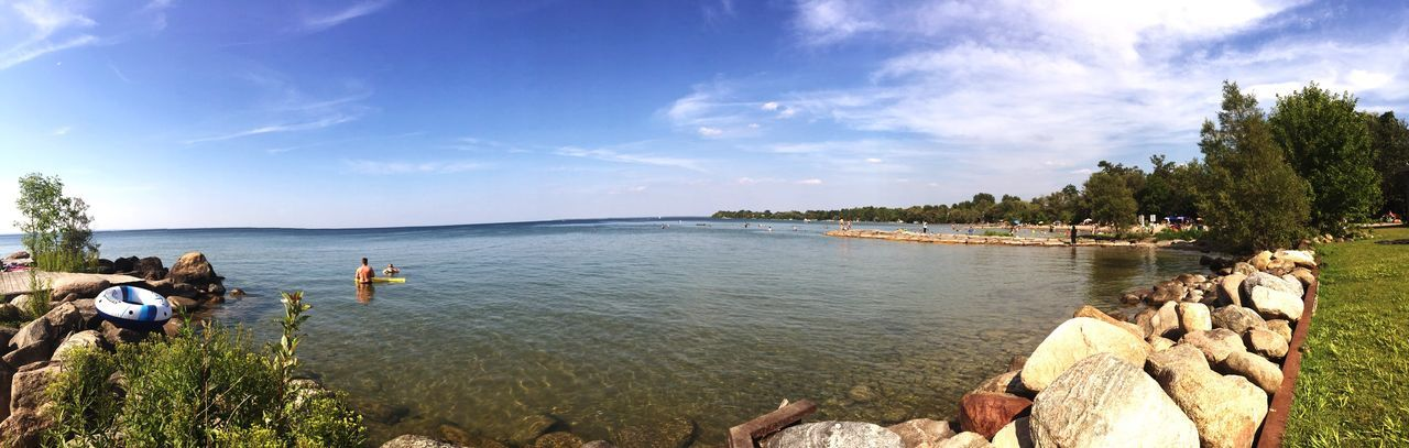 Looking back on summer 2015 Water Nature Sunlight Beauty In Nature Outdoors Landscapes Lake View Ontario Canada Photography Panorama View First Eyeem Photo