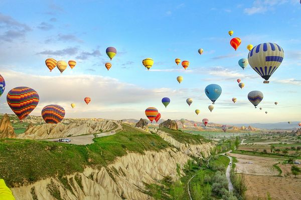 The uniquely lunarscape wonderland.. Unesco Cappadocia Turkey Hotairballoon Yolo