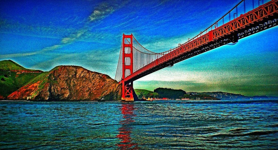 Marin County CA San Francisco, California Golden Gate Bridge Connection Bridge - Man Made Structure Transportation Suspension Bridge Engineering Travel Destinations Sky Travel Architecture Outdoors Water Built Structure Waterfront No People Sea Day Mountain Scenics Nature Beauty In Nature