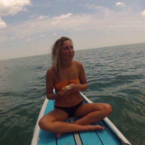 Just a casual picnic... Picnic Paddle Boarding Beach Food On The Go