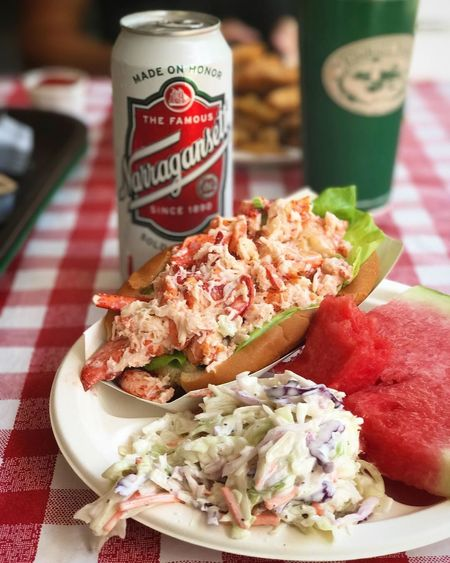 Close-up Day Drink Food Food And Drink Freshness Healthy Eating Indoors  Lobster Roll No People Plate Ready-to-eat